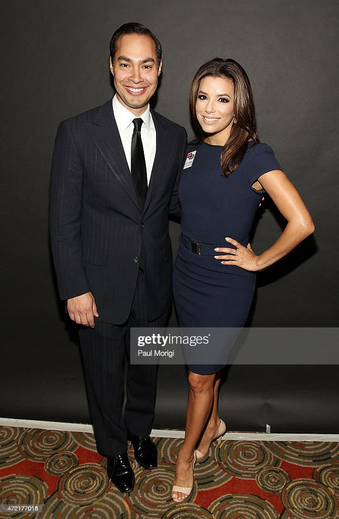 The Honorable Julian Castro and <a gi-track='captionPersonalityLinkClicked' href=/galleries/search?phrase=Eva+Longoria&family=editorial&specificpeople=202082 ng-click='$event.stopPropagation()'>Eva Longoria</a>, actress and co-founder, Latino Victory, attend the Latino Victory Foundation's Latino Talks event at The Hamilton on May 4, 2015 in Washington, DC.