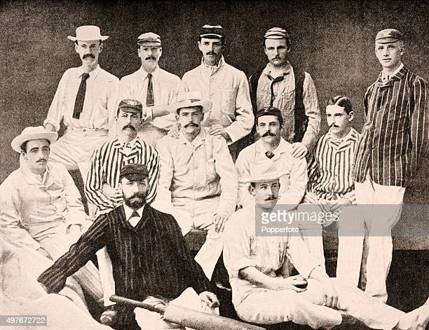 The Honourable Ivo Bligh's England Cricket Team which toured Ceylon and Australia and after winning two out of three Test matches against the latter...