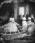 The hoops used to support the crinoline dress during Victorian times