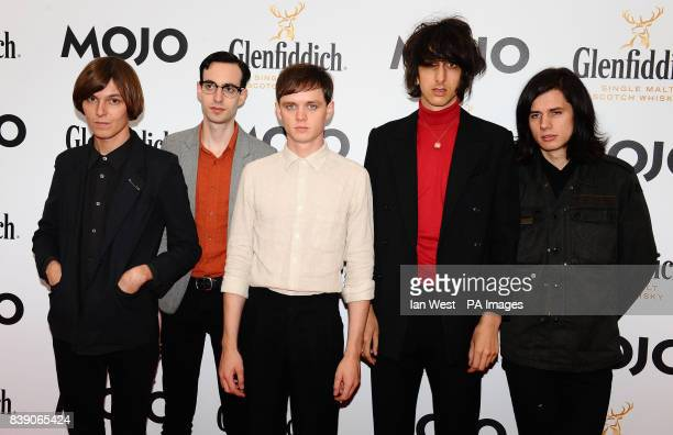 The Horrors arrive at the Mojo Awards at the Brewery in London