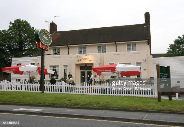 The Horse and Groom public house on Main Road in Sidcup southeast London where a pub manager is in hospital after being stabbed in a street robbery