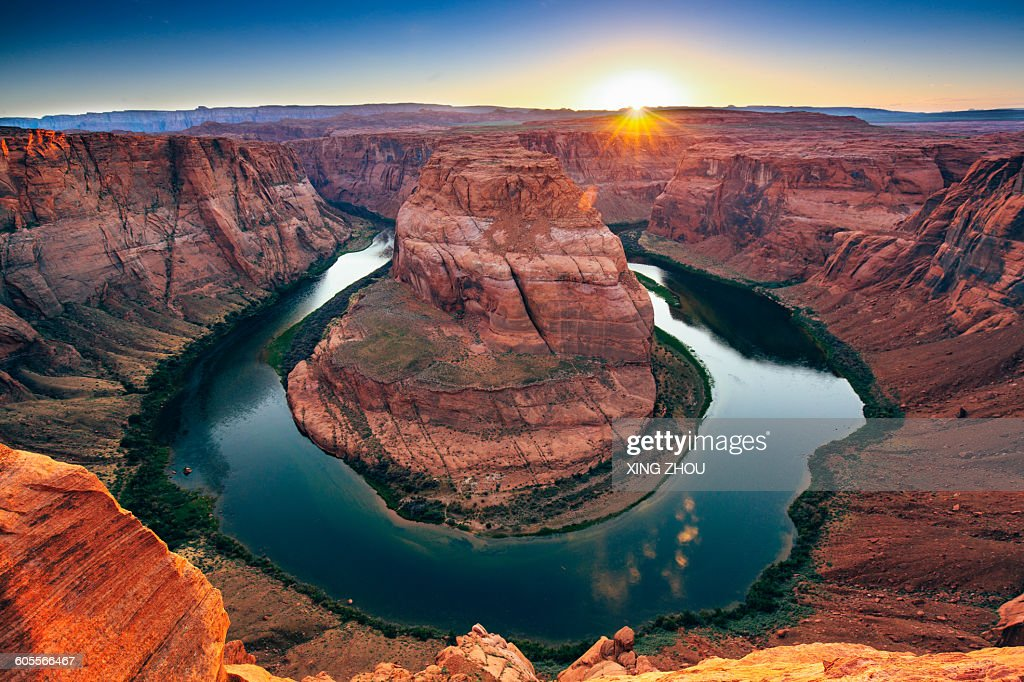 The Horseshoe Bend in the Colorado River