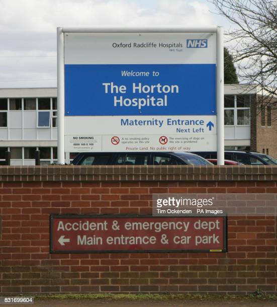 The Horton Hospital Bambury main entrance to the AE where nurse Ben Geen worked He is on trail at Oxford Crown court for double murder of patience