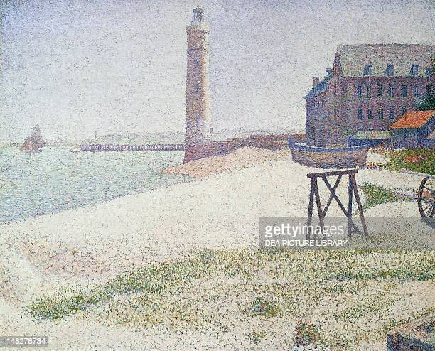 The hospice and the lighthouse at Honfleur by Georges Seurat oil on canvas 67x82 cm Washington National Gallery Of Art