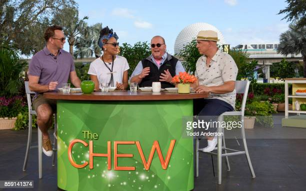 THE CHEW The hosts of 'The Chew' broadcast from Disney's Epcot Center in Lake Buena Vista Florida the week of October 9 2017 'The Chew' airs MONDAY...
