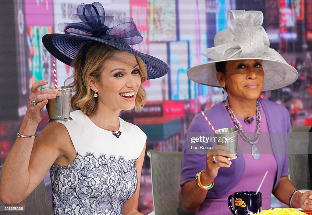 AMERICA - The hosts prep for the Kentucky Derby on 'Good Morning America,' 5/6/16, airing on the ABC Television Network. AMY