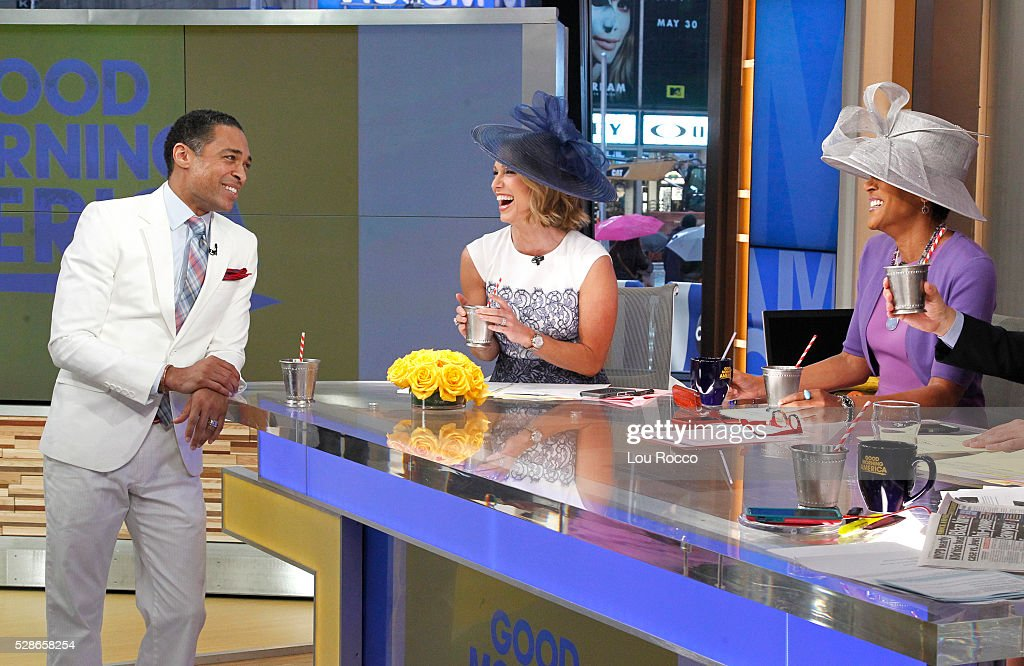 AMERICA - The hosts prep for the Kentucky Derby on 'Good Morning America,' 5/6/16, airing on the ABC Television Network. TJ