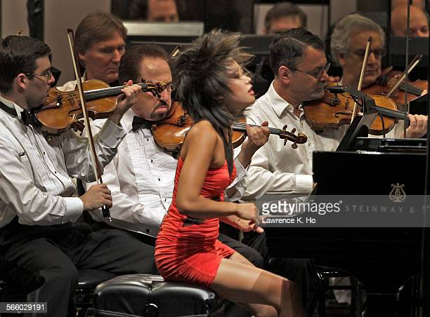 The hot young Chinese pianist Yuja Wang is soloist in Rachmaninoff's Third Piano Concerto Review of Lionel Bringuier LA Philharmonic's Resident...