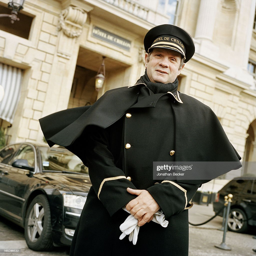 The Hotel de Crillon doorman is photographed for Vanity Fair Magazine on November 22, 2012 in Paris, France. PUBLISHED