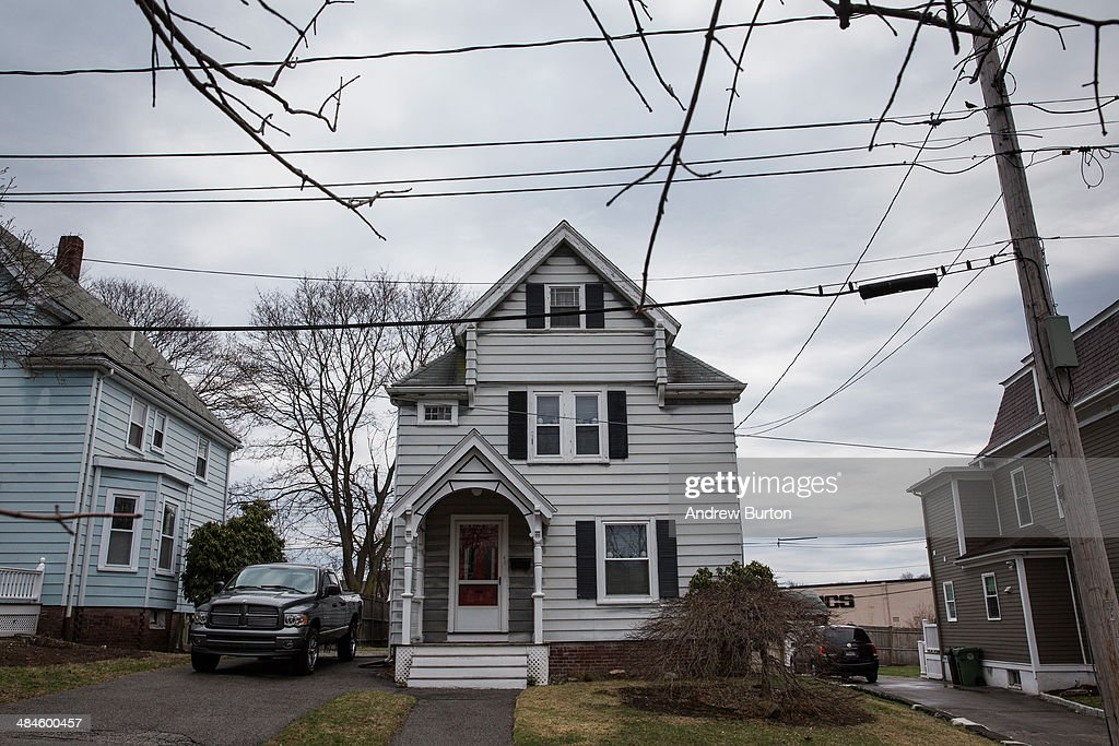 The house at 67 Franklin Street where the surviving Boston bomber Dzhokhar Tsarnaev hid inside a boat that was sitting in the back drive way is seen...