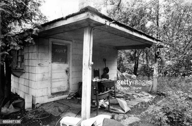 The house at the back of the property where Kurt Rouse lived is seen on June 9 1980 The building is located about 100 yards from the house where...
