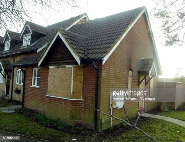 The house in Wisbech Cambridgeshire where Michael Bailey a 28yearold mechanic was stabbed to death with a 23in sword during a row about noise with...