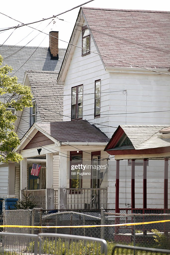 The house is seen where three women, who disappeared as teens about a decade ago, were found alive May 7, 2013 in Cleveland, Ohio. Amanda Berry, who went missing in 2003, Gina DeJesus, who went missing in 2004, and Michelle Knight, who went missing in 2002, managed to escape their captors on May 6, 2013. Three suspects, all brothers, were taken into custody.