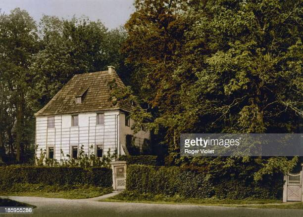 The house of Johann Wolfgang von Goethe German writer Weimar circa 1900