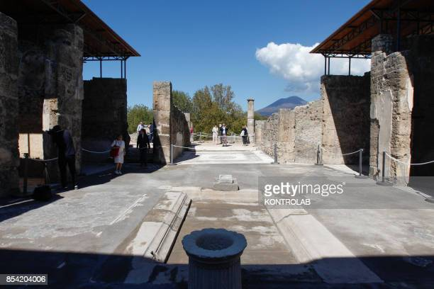 The House of the Sailor reopened after restoration in the archaeological area of Pompeii the ancient Roman town buried in 79 AD by the eruption of...