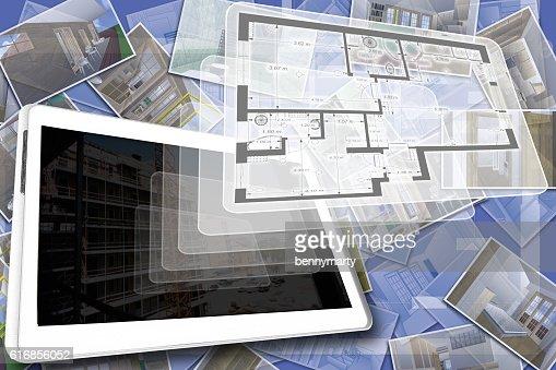The house plan : Stock Photo