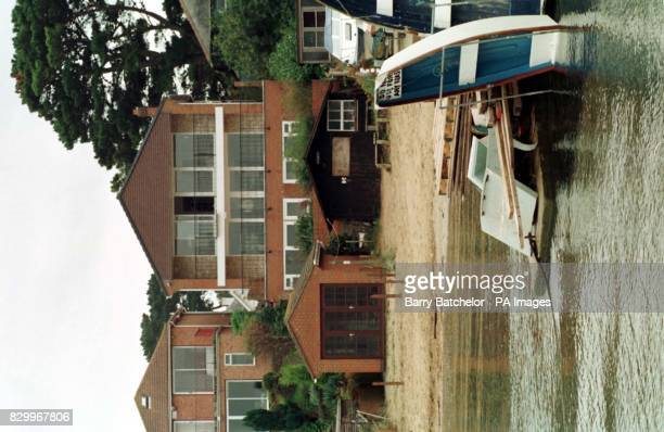 'The house that Geoffrey Boycott bought' a view from the sea of the property at Sandbanks Poole Dorset which former England and Yorkshire opening...