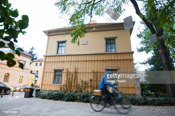The house where Hungarianborn 19thcentury composer Franz Liszt lived from 1869 to 1886 is pictured on October 18 2011 in Weimar Germany The city of...