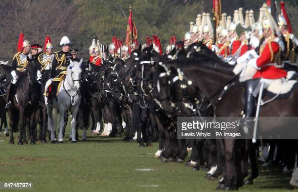 The Household Cavalry take part in he 'Major General's Review' in Hyde Park London where Major General George Norton determines whether the Household...