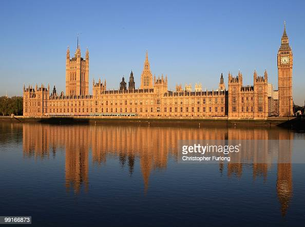 The Houses of Parliament are bathed in the early morning sunshine on May 13 2010 in London England New Prime Minister David Cameron is holding his...