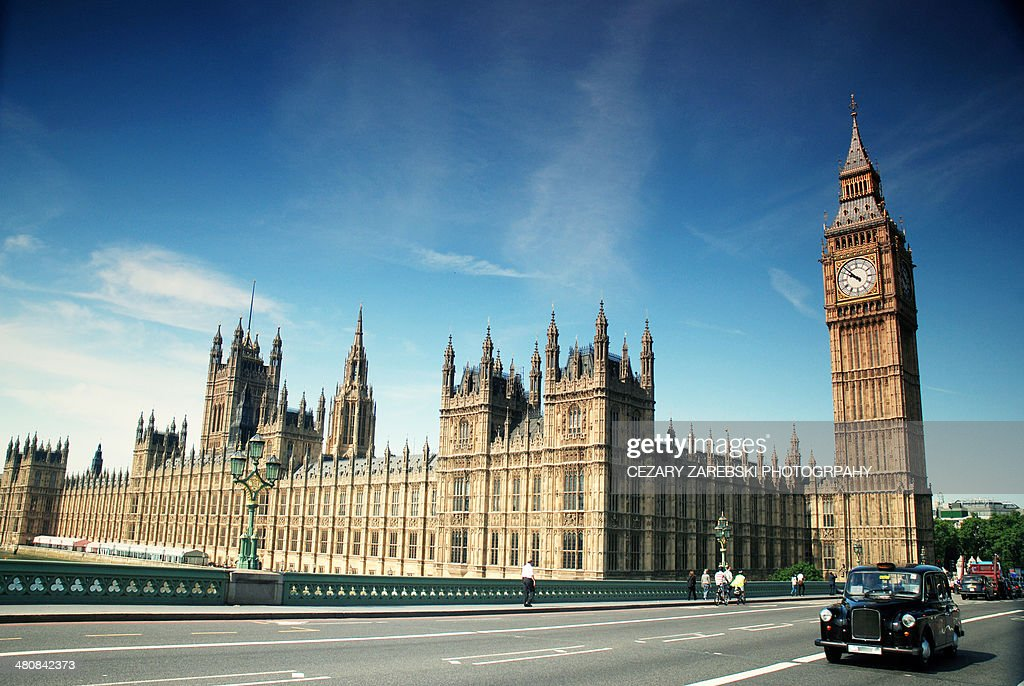 The Houses of Parliament & Big Ben : Stock Photo