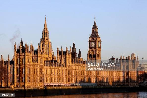 The Houses of Parliament glow in the early morning sun on February 1 2010 in London England Londoners woke up to a beautiful clear morning despite...