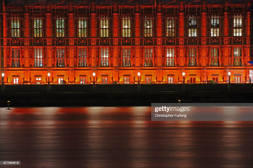 The Houses Of Parliament Are Floodlit Red In Memory Of The Persecuted