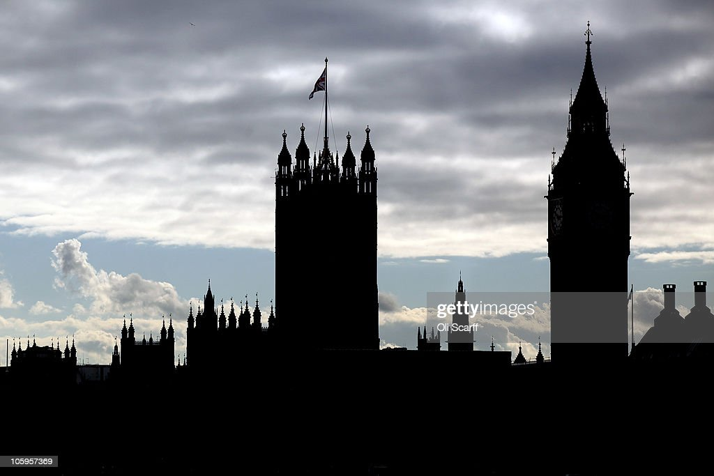 The Houses of Parliament is silhouetted against the afternoon sun across the river Thames on October 22, 2010 in London, England.