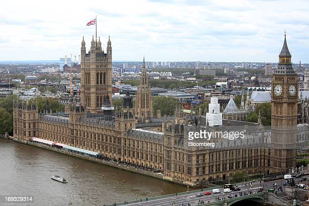 The Houses of Parliament stand on the river Thames in London UK on Thursday May 23 2013 Canary Wharf Group Plc and Qatar's sovereignwealth fund won...