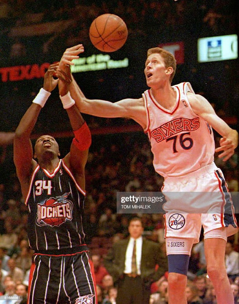 The Houston Rockets Hakeem Olajuwon L and the Ph