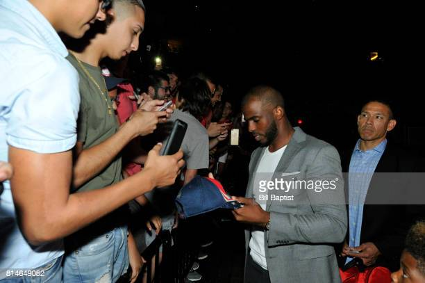 The Houston Rockets introduce Chris Paul and signs autographs for the fans on July 14 2017 at the Toyota Center in Houston Texas NOTE TO USER User...