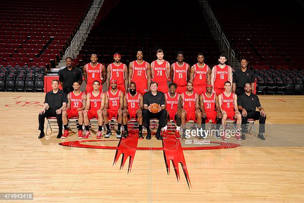 The Houston Rockets pose for a team photo on April 1 2015 at the Toyota Center in Houston Texas NOTE TO USER User expressly acknowledges and agrees...