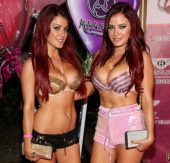 The Howe Twins attend the 8th Annual Kandyland An Evening Of Decadent Dreams on August 17 2013 in Beverly Hills California