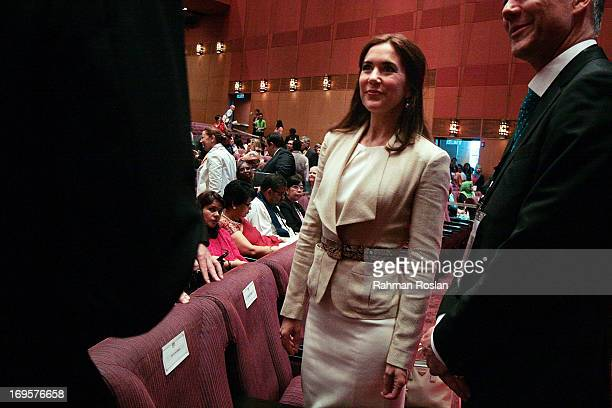 The HRH Crown Princess Mary of Denmark chats with the delegates during The Women Deliver Conference on May 28 2013 in Kuala Lumpur Malaysia The Women...