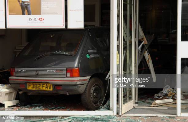 The HSBC bank in Southgate north London after an armed robbery which took place today A sixty year old man was injured during the raid as he tried to...