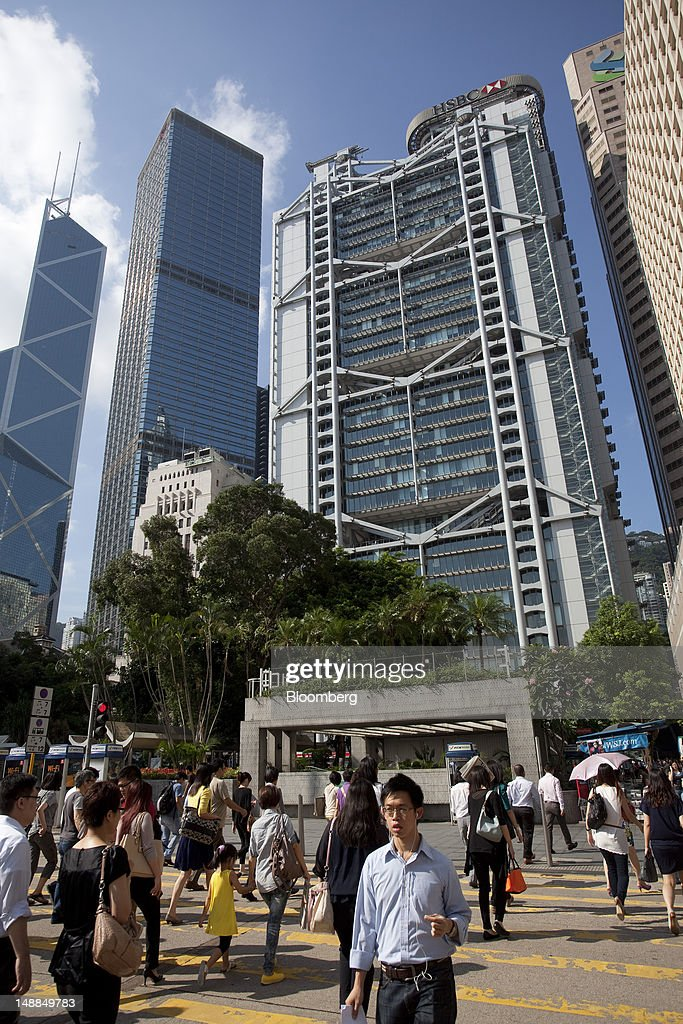 The HSBC Holdings Plc headquarters, center, stands in the Central district of Hong Kong, China, on Friday, July 20, 2012. Traders at Deutsche Bank AG, HSBC Holdings Plc, Societe Generale SA and Credit Agricole SA are under investigation for interest-rate manipulation in a global probe that led to a record fine for Barclays Plc last month, a person with knowledge of the matter said. Photographer: Jerome Favre/Bloomberg via Getty Images