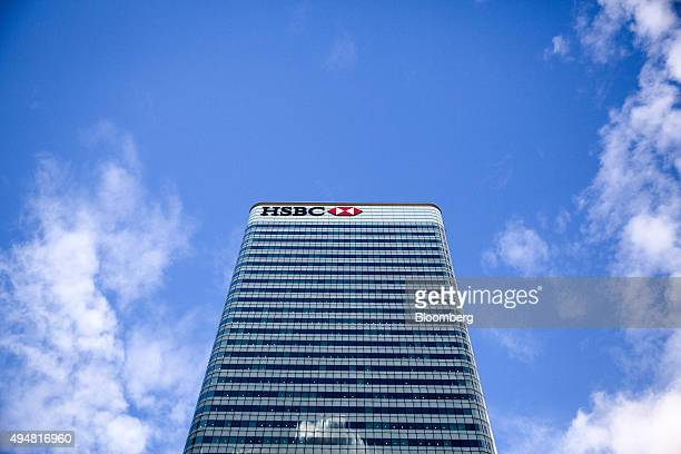The HSBC Holdings Plc headquarters sits in the Canary Wharf business financial and shopping district of London UK on Wednesday Oct 28 2015 Europe's...