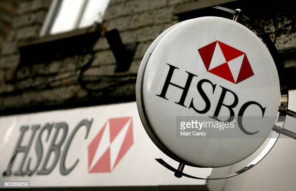The HSBC logo is displayed outside a branch of HSBC on March 3 2008 in Street United Kingdom HSBC the UK's largest bank has said it has made a 87bn...