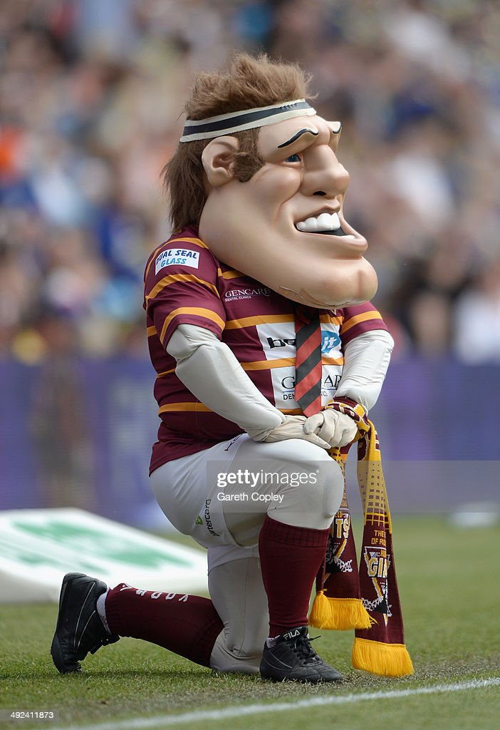 The Huddersfield Giants mascot during the Super League match between Huddersfield Giants and Bradford Bulls at Etihad Stadium on May 18, 2014 in Manchester, England.