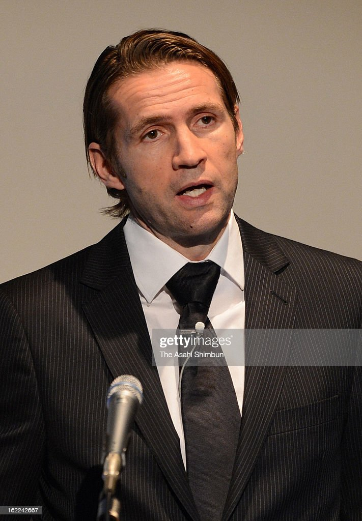 The Huffington Post CEO Jimmy Maymann addresses during the Social Media Week at Hamarikyu Asahi Hall on February 20, 2013 in Tokyo, Japan.