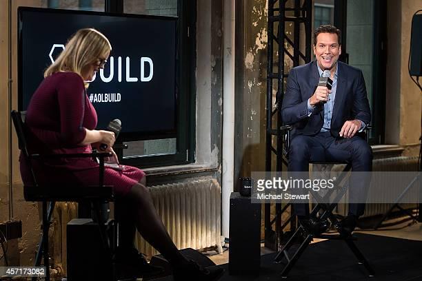 The Huffington Post Senior Comedy Viral Editor Katla McGlynn and comedian Dane Cook attend AOL's BUILD Series Presents Comedian Dane Cook at AOL...