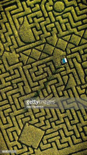 The huge Halloween's Corn Maze in Pennsylvania, Poconos Region