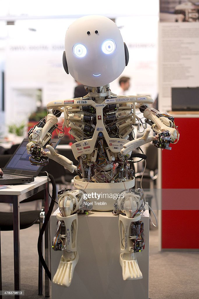 The humanoid robot Roboy is pictured at the 2014 CeBIT technology Trade fair on March 13, 2014 in Hanover, Germany. CeBIT is the world's largest technology fair and this year's partner nation is Great Britain.