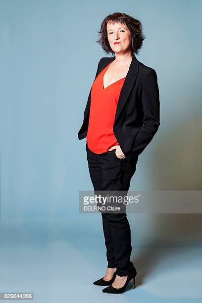 the humorist Anne Roumanoff poses for Paris Match on september 14 2016 in Paris France