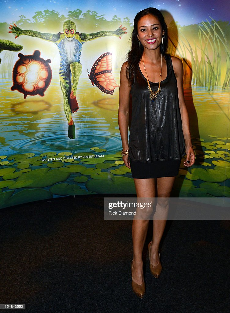 Catching Fire' cast member Meta Golding attends Cirque du Soleil TOTEM Premiere at Atlantic Station on October 26, 2012 in Atlanta, Georgia.