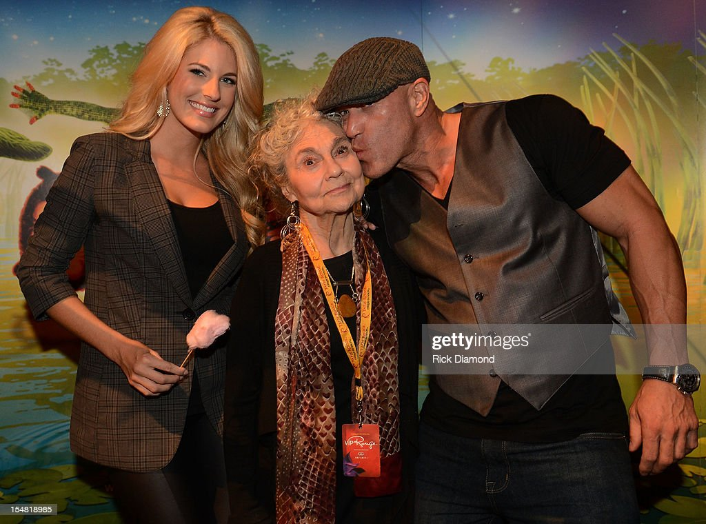 'The Hunger Games: Catching Fire' cast members Stephanie Leigh Schlund, Lynn Cohen and Bruno Gunn attend Cirque du Soleil TOTEM Premiere at Atlantic Station on October 26, 2012 in Atlanta, Georgia.