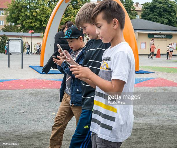 The hunt goes on in Pokémon Go this time in the folk park in Malmö Sweden