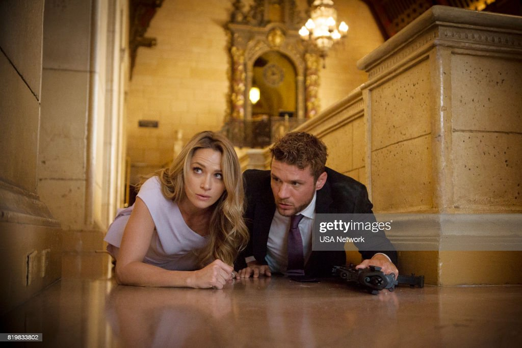SHOOTER -- 'The Hunting Party' Episode 201 -- Pictured: (l-r) Shantel Vansanten as Julie Swagger, Ryan Phillippe as Bob Lee Swagger --