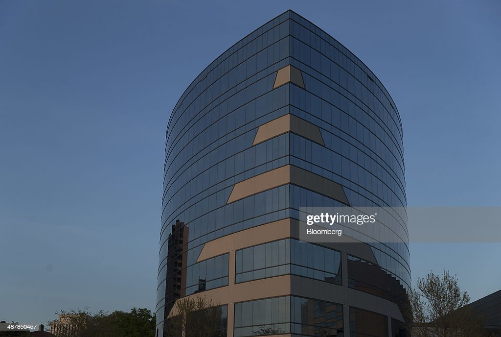 The Huntington Ingalls Industries Inc headquarters stands in Newport News Virginia US on Sunday April 27 2014 Huntington Ingalls Industries Inc is...