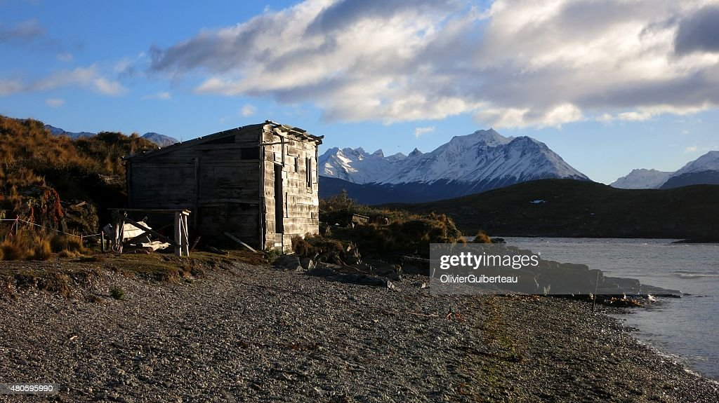The hut at the end of the World : Stock Photo